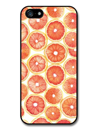 Cool Grapefruit Slice Pattern Design in a Red Style case for iPhone 5 5S