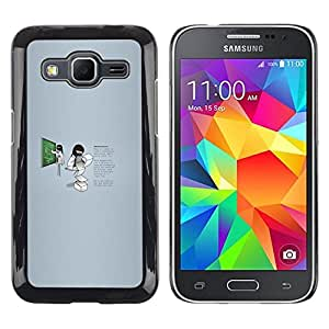 Caucho caso de Shell duro de la cubierta de accesorios de protección BY RAYDREAMMM - Samsung Galaxy Core Prime - Profesor Trabajador