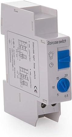 Electrónico automático de 16 a 230 V Escalera Escaleras Interruptor de tiempo de luz Tiempo Relé temporizador: Amazon.es: Electrónica