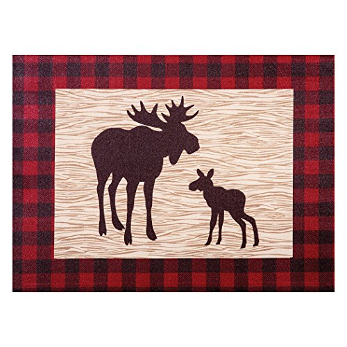 Trend Lab Northwoods Moose Canvas Wall Art, Tan/Red