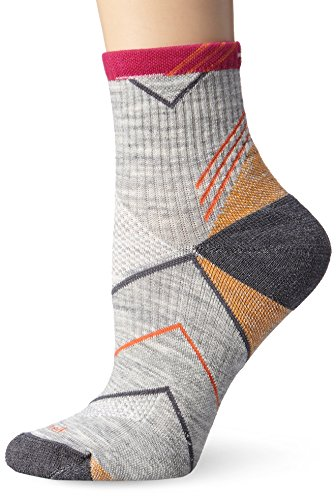 Sockwell Women's Incline Quarter Moderate Graduated Compression Socks,Light Grey,Small/Medium (4-7.5) (Outdoor Quarter Socks Womens)