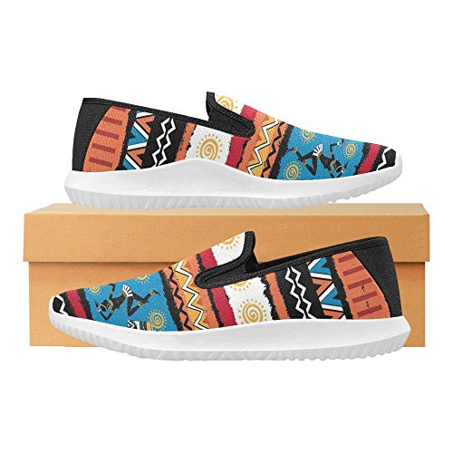 Mocassino Slip-on Donna Interestprint Sneakers In Tela Multi Moda 5