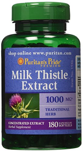 Puritan's Pride Milk Thistle 4:1 Extract 1000 mg -180 Softge