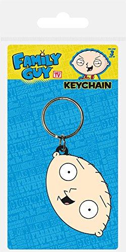 Family Guy Keychain (Family Guy Rubber Keychain Stewie Face 6 cm Pyramid International Portachiavi)