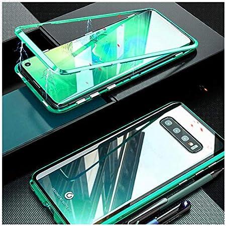 Funda para Samsung Galaxy Note 10 Plus//Note 10 Magnetica Adsorption Carcasa 360 Grados Anti Choque Marco de Metal Cover Case Transparente Vidrio Templado Protecci/ón para Note 10 Plus Azul