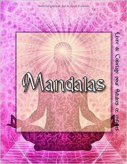 Mandalas 95 Mandalas Pour Adultes Sur Fond Noir Pour Des