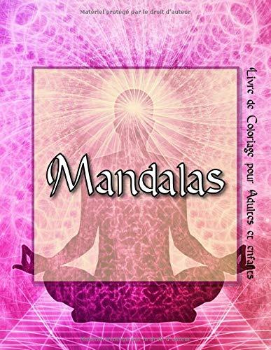 Mandalas 95 Mandalas Pour Adultes Sur Fond Noir Pour Des Couleurs Fantastiques Modeles De Coloriage Gratuits Au Format Pdf Pour Impression French Edition Pour Adultes Et Enfants Livre De Coloriage 9781070838588