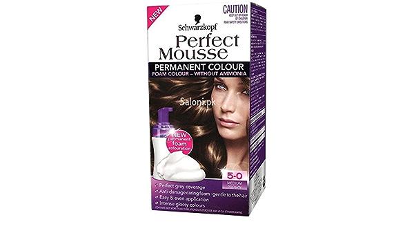 Schwarzkopf Perfect Mousse - Tinte permanente para cabello (5 ...