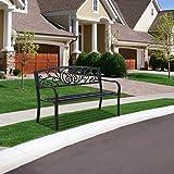 Garden Bench Metal Bench for Patio Outdoor Bench