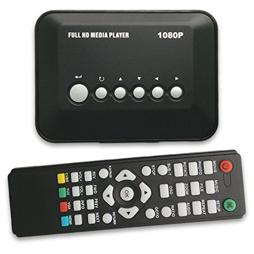 Eforbest 1080P Full HD Multi-Media Player 1080P-TVBOX USB HDMI SD/MMC Multi TV Media Player With Remote Control