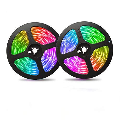 LED Strip Lights, Color Changing 5050 RGB LED Light Strips with 44key Remote Control 12 Volt Led Lights Kit,Power Supply Mood Lamp for Home, Room Bedroom Party, DIY Decoration (65.6ft)