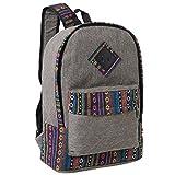 MGgear Boho Tan Denim Lightweight School Backpack, Casual Everyday Bag For Sale