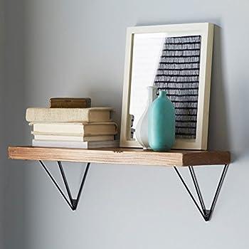 WGX Shelf Brackets,Wall /Display Shelf Hung Bracket DIY Shelf (Black) 2pcs