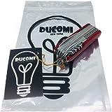 Ducomi® Cuchillo 17 en 1 Multiuso Plegable Camping - Boxcutter Bolsillo de la Supervivencia Utentisili 17 en 1 - Longitud: 91 mm - NO Victorinox - Alternativa de Alta Aalidad. Garantía de Devolución de Dinero.
