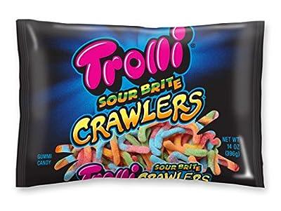 Trolli Sour Brite Crawlers Gummy Candy, 14 Ounces