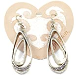 Brighton Luxe Loop Crystal French Wire Earrings