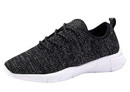 HQUEC Women's Lightweight Casual Sneakers Fashion Sneakers Walking Sport Shoes Black(10.5US)
