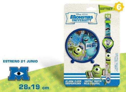 DISNEY MONSTER UNIVERSITY ALARM CLOCK + DIGITAL WATCH GIFT SET by Disney