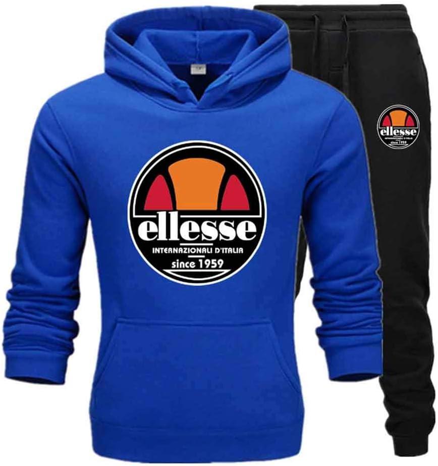 Unisex Hoodies Tracksuit Set Gym Jogging Bottoms Casual Top Drawstring Joggers Sports Sweatshirt Sweatsuit with Pockets Suitable for Women Men,DarkGray,XXXL