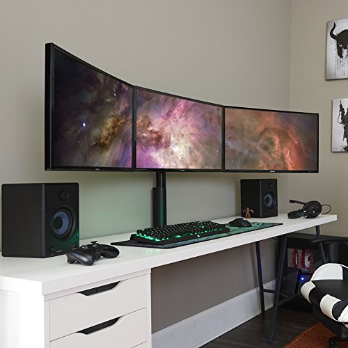 ECHOGEAR Triple Monitor Desk Mount Stand for Screens Up to 27