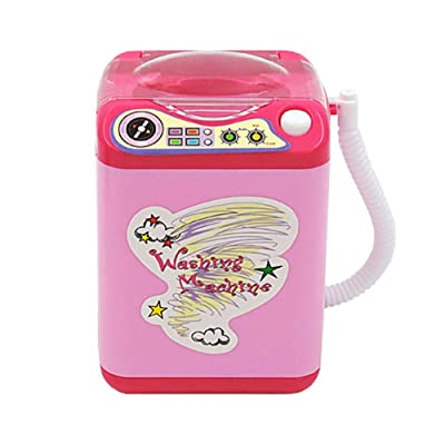 shengyuze Tiny Washing Machine Toy for Kids, Mini Makeup Brush Cleaner Automatic Cleaning Washing Machine Pretend Play Toy - Pink: Home & Kitchen
