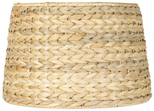 Woven Seagrass Drum Shade 10x12x8.25 (Wicker Shade Finish)