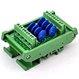 Chunzehui DIN Rail Mount 150V SIOV Metal Oxide Varistor Interface Module, 8 Channels Common.