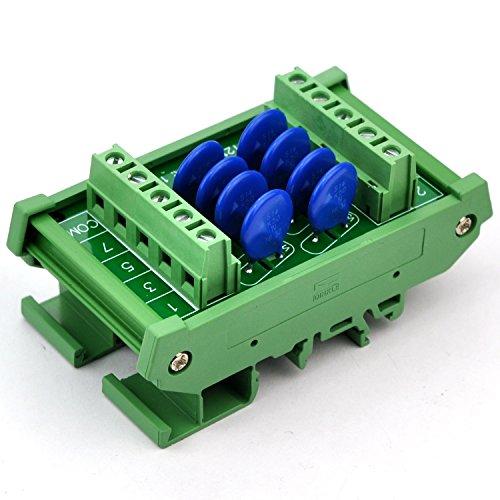 Chunzehui DIN Rail Mount 275V SIOV Metal Oxide Varistor Interface Module, 8 Channels Common. by Chunzehui