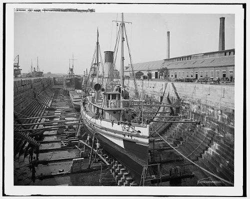 Photo: Dry dock,Portsmouth Navy Yard,Uncas,government - Kittery Stores
