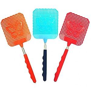 1 Pc Estensibile Fly Swatter previene parassiti zanzare Forte Flessibile Manuale Swat Zanzare Pat con Durevole Manico Telescopico 3 spesavip