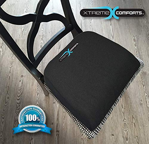 Xtreme Comforts Large Seat Cushion with Carry Handle and Anti Slip Bottom Gives Relief from Back Pain (2 Pack) by Xtreme Comforts (Image #6)