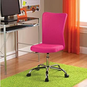 High Quality Mainstays, Fuschia Pink Color  Desk Chair Ideal For Home Or Office Use