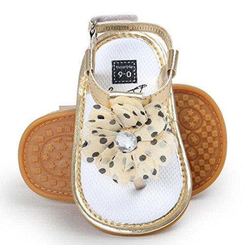 IMJONO - Sandalias deportivas para niña caqui