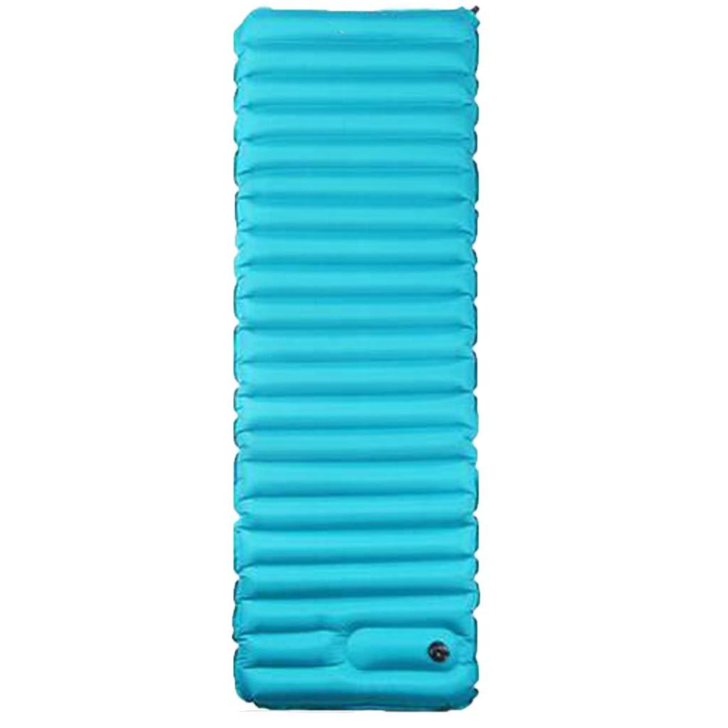 LYLLB-Air bed AußEnluftbett Automatische Aufblasbare Auflage Horizontale Streifenheftung Design Blau 183 X 50 cm