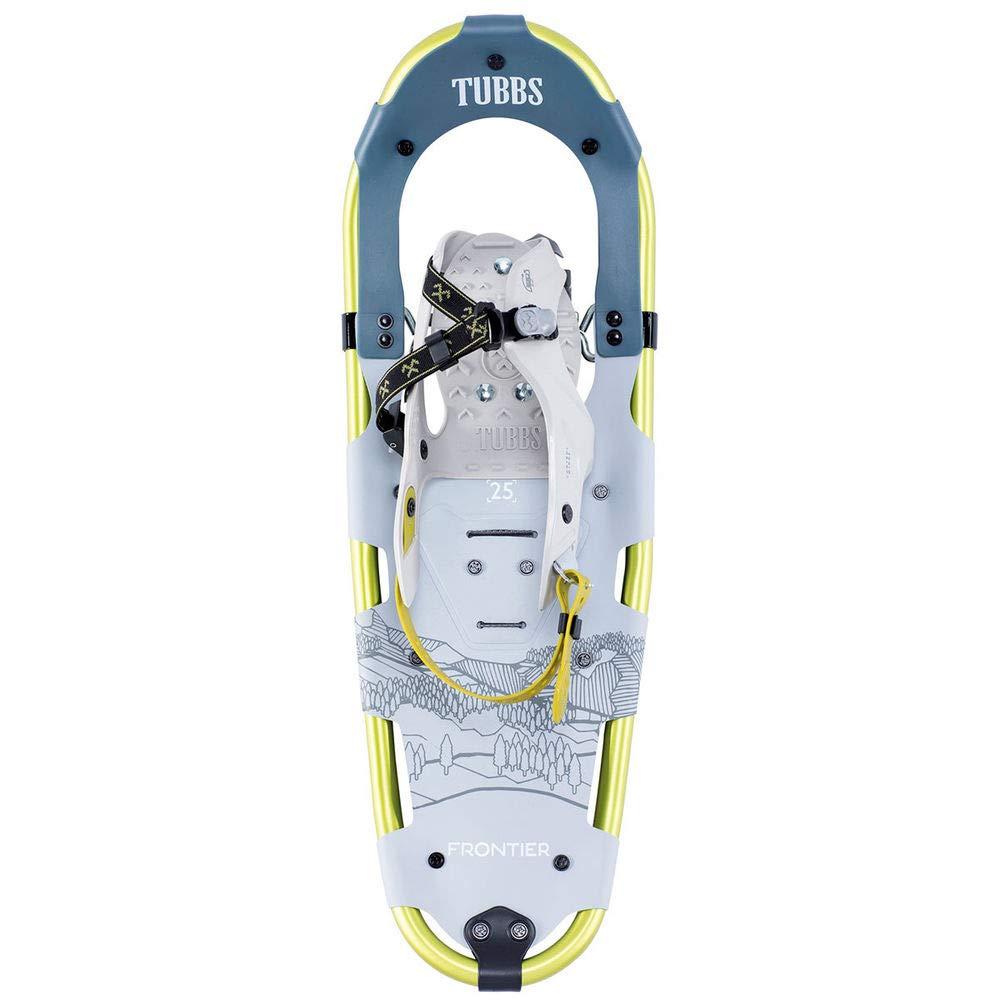 Tubbs Snowshoes Men's Frontier Trail Walking Snowshoes, Light Grey/Citron, 25 in.