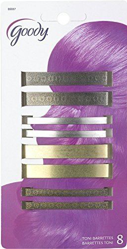 (Goody Classics Metal Barettes, 2 3/8 Inches, - 2 Packs Of 8 Count = 16 Count)