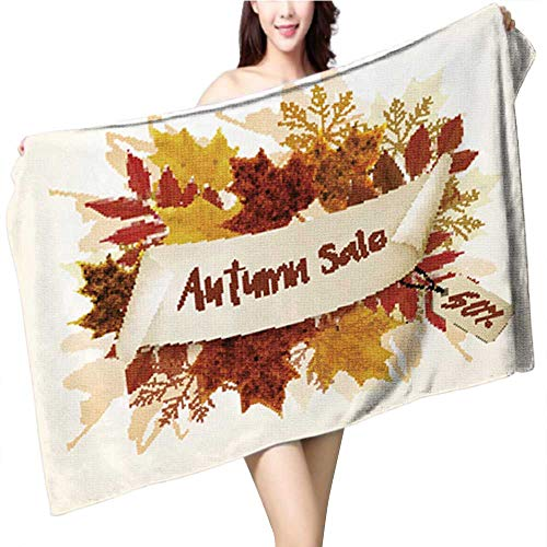 Philiphome Microfiber Beach Towel Halloween Isolated Pumpkin in Vector Autumn Dall Thanksgiving Food for Vegetarian Natural Seasonal p Soft, Quick Dry, Absorbent, Size:39.4 x 19.7 INCH -