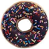 "HYSEAS Chocolate Donut Shaped 14"" Photoreal Print Throw Pillow"