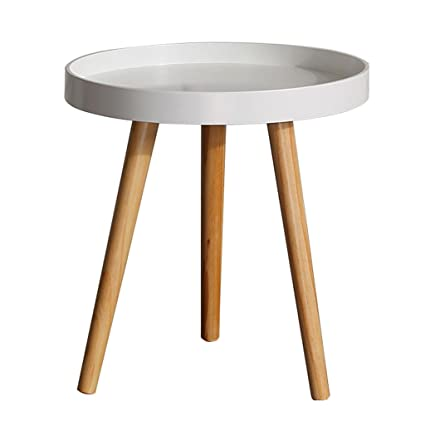 Small Round Table Solid Wood Coffee Table Bedroom Bedside Mini Table Living  Room Simple Coffee Table