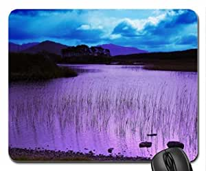 Scenic Lake in Purple Mouse Pad, Mousepad (Lakes Mouse Pad)