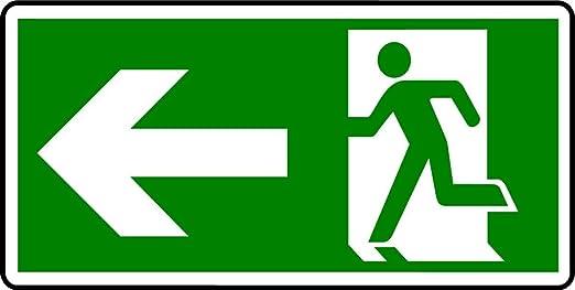 Plástico semirrígido-cartel de salida de emergencia-Hombre ...