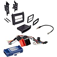 Car Radio Stereo Single Double Din Trim Dash Kit for 2003-2007 Cadillac SRX CTS W/Radio Interface