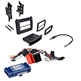 Car Radio Stereo Single Double Din Trim Dash Kit for 2003-2007 Cadillac SRX CTS W/Radio Interface