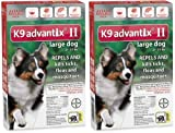 K9 ADVANTIX II Dog Flea & Tick 21-55 lbs Red 12 Month