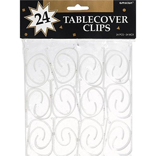 Tablecover Clips 24/Pkg-Clear Plastic
