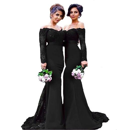 Fair Lady Burgundy Lace Prom Dress Mermaid Long Bridesmaid Dresses