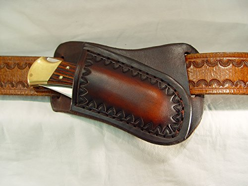 Buck 110 leather knife sheath cross draw only no knife