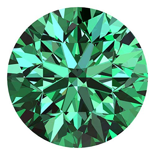 CERTIFIED 1.5 MM / 0.015 Cts. Natural Loose Diamonds, Pack of 5, Fancy Green Color Round Brilliant Cut VVS1-VVS2 Clarity 100% Real Diamonds by IndiGems