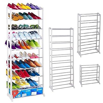 (US Stock)Hindom Home Adjustable Portable Closet Storage Organizer Shoes  Rack,Free Standing