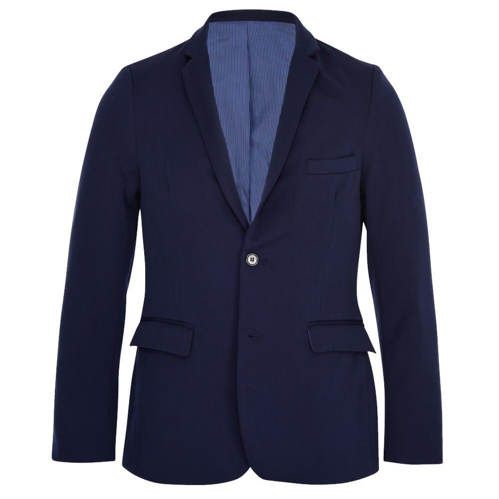 ALLBOW Blazer de hombre con parches opcional, chaqueta deportiva de hombre azul entallada 1161984